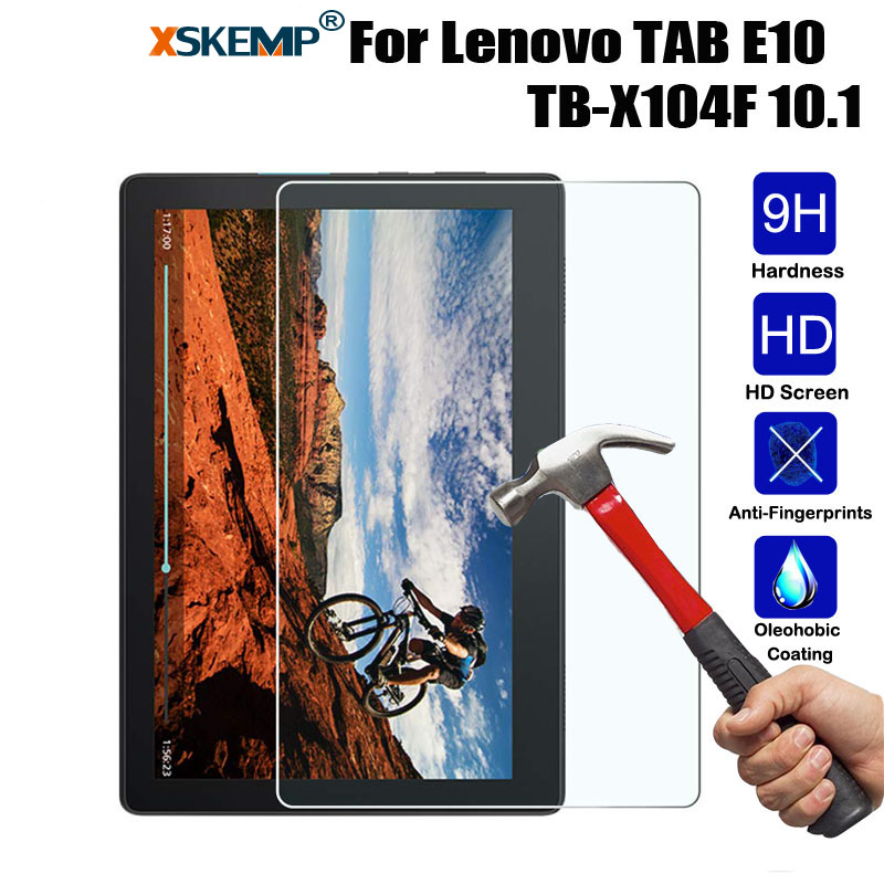 XSKEMP Tempered Glass For Lenovo TAB E10 TB-X104F 10.1 Inch Tablet LCD Film Screen Protector Protection Ultra Thin Film Coverage