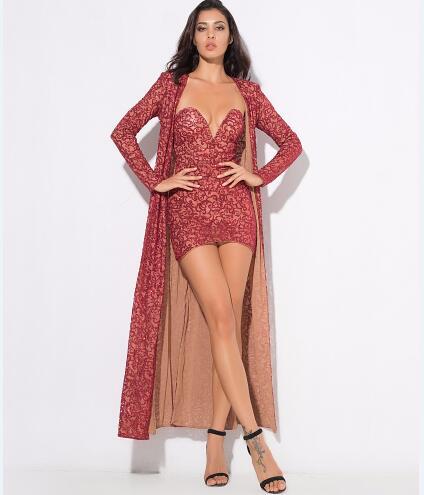 Célébrité Qualité long De Piste Couleur Dames Rouge Ensemble Top Manteau Mode Et X Robe Bustier Femmes pqF6wxcH