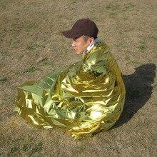 Новое 2,1*1,3 м 50 г emergent одеяло спасательная Первая помощь Водонепроницаемый туристический лагерь палатка поход Открытый выживания инструмент для серебра Охота термо