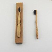 50 шт/партия бамбуковая щетка с древесным углем Корона Экологичная деревянная зубная щетка бамбуковая зубная щетка мягкая щетина Capitellum бамбуковое волокно
