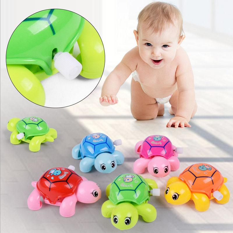 Baby Infant Animal Tortoise Clockwork Toys Crawling Kids Gift Funny Cute
