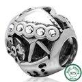 925 Sterling Silver smiling Slot machine charm Fit pandora Bracelet & bangle DIY jewelry