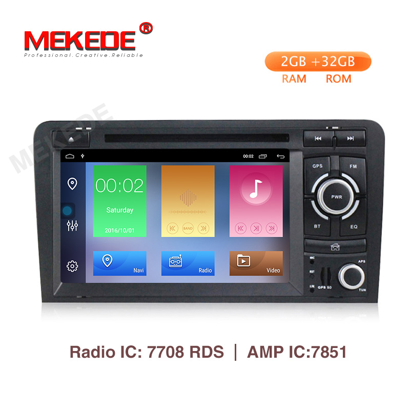 MEKEDE Android 9.1 2 + 32G Auto Multimedia-player Für <font><b>Audi</b></font> <font><b>A3</b></font> 8 P 2003-2012 S3 2006- 2012 RS3 Sportback 2011 <font><b>Radio</b></font> GPS WIFI BT image