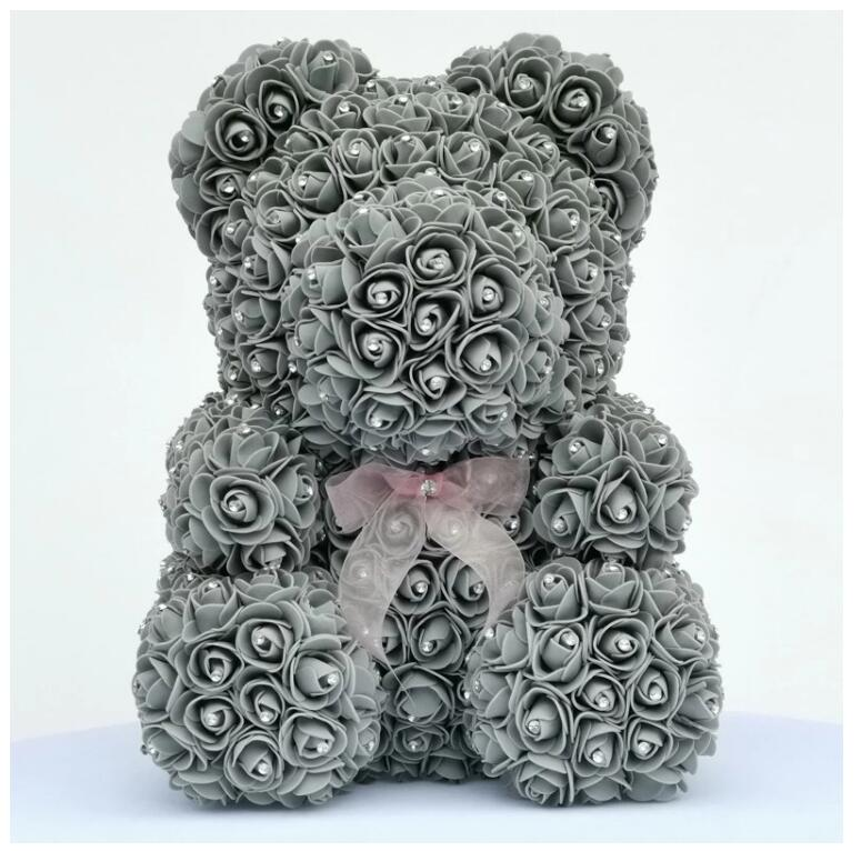 Image 4 - 2020 Diamond rose bear with heart artificial roses foam roses flower Diamonds  bear rose Valentine's Day gifts Mother's Day-in Artificial & Dried Flowers from Home & Garden