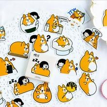 45pcs/lot Animal Cartoon Mini Paper Stickers Decoration DIY diary Scrapbooking label Sticker Stationery