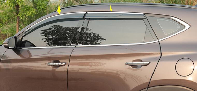 For Hyundai Tucson 2016 2017 Car Accessories Window Visor Sun Rain Wind Deflector Awning Shield Vent Guard Shade Cover Trim 4Pcs