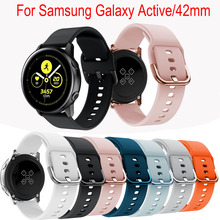 Colorful silicone sport watch band For Galaxy active smart strap Samsung 42mm Replacement straps