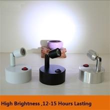 1 Вт/3 Вт AAA батарея светодиодная точечная лампа, беспроводной ювелирный магазин, счетчик, ночной рынок, свадьба, шоу, подвижный стол/стена/стекло potlight