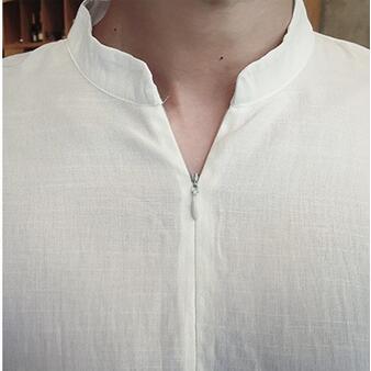 d04e43b33 € 12.35 |#2731 2018 verano moda Vintage M 3XL Camisa blanca Camisa  masculina marca de ropa mens Harajuku Lightweigt en Camisas casuales de La  ropa ...