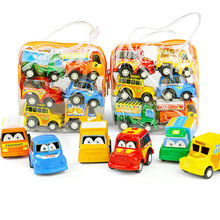 6pcs Set Pull Back Car Toys Mobile Machinery Shop Construction Vehicle Cartoon Lovely Model Baby Mini Cars Gift Children Toys 6pcs lot multicolor plastic cartoon mini pull back boy car model toys set educational toy for children car toys