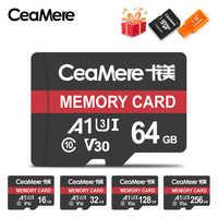 CeaMere Scheda di Memoria 256GB 128GB 64GB U3 UHS-3 32GB Micro carta di deviazione standard di Class10 UHS-1 flash card di memoria Microsd TF/SD CARD per Tablet