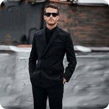 Black Men Wedding Suits Groom Tuxedo Groomsmen Blazers Man Jacket Slim Fit Costume Homme Latest Designs Terno Masculino 2Piece цена