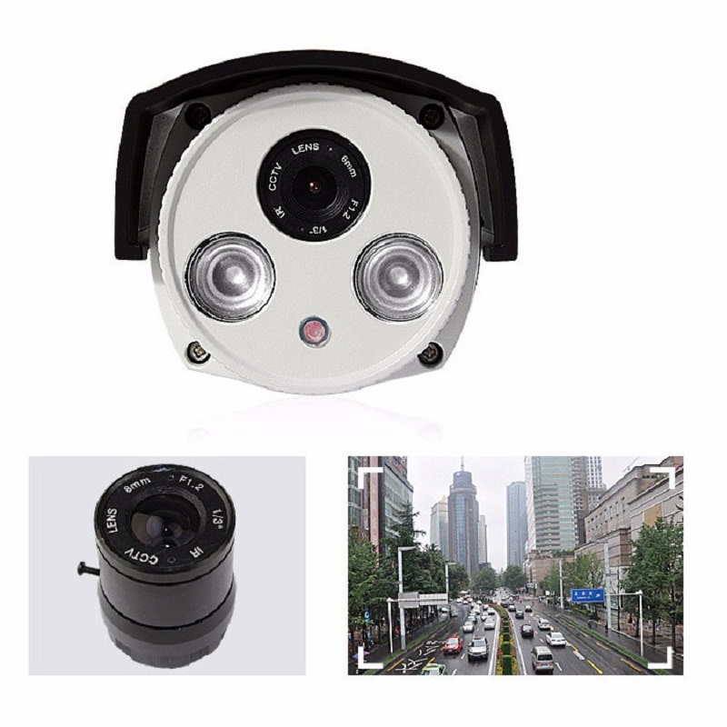 Aluminum Metal Waterproof Outdoor Bullet IP Camera 960P 1080P 4MP/5MP Security Camera CCTV 2PCS ARRAY LED Board ONVIF IP Camera wistino white color metal camera housing outdoor use waterproof bullet casing for cctv camera ip camera hot sale cover case