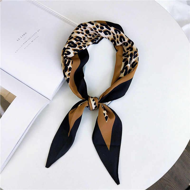 a6c2deee47632 35*120cm Skinny Scarf Leopard Print Women Scarf Fashion Bandana Neck Tie  Stylish Handkerchief Ladies