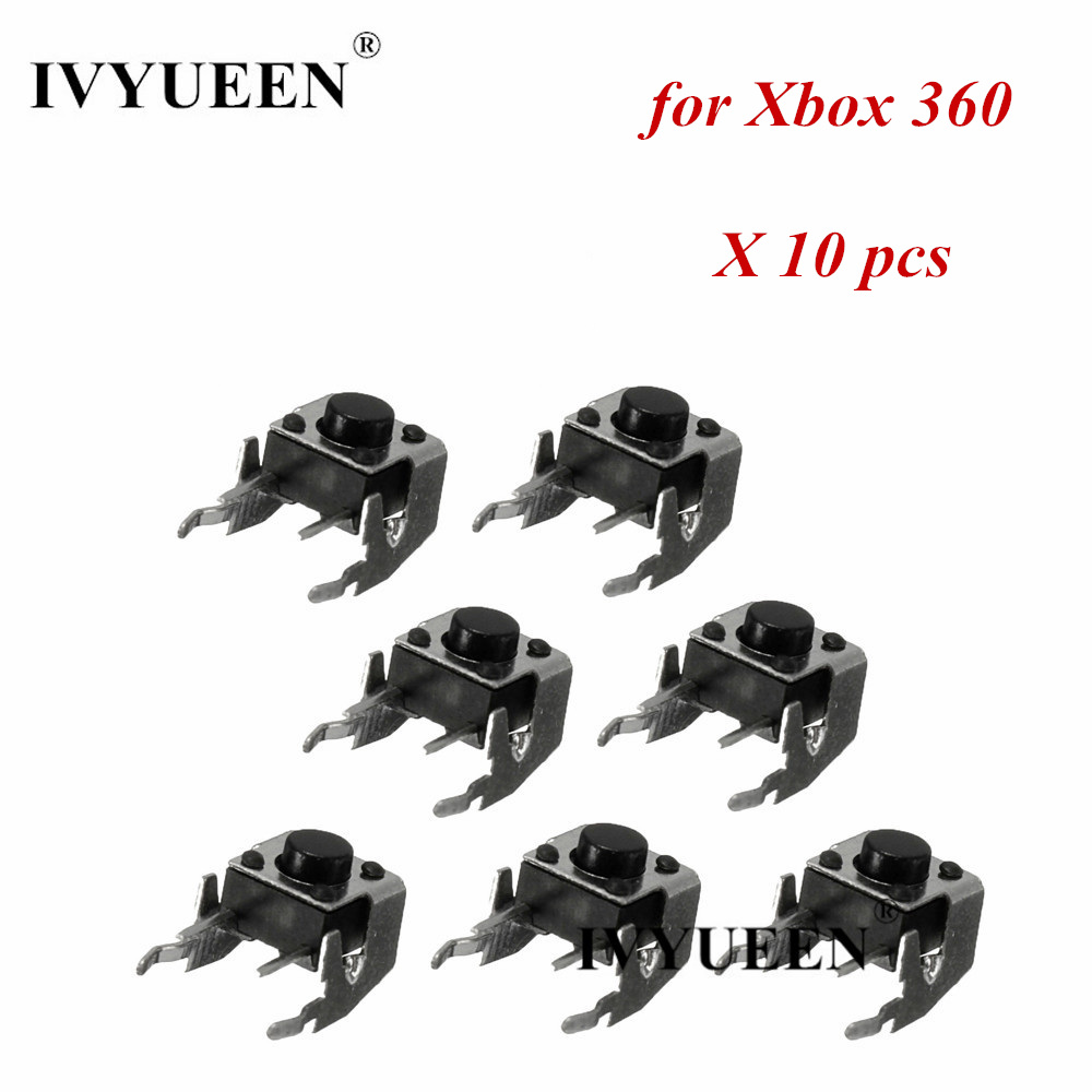 IVYUEEN 10 Pcs Original RB LB Bumper Button Switch Repair For Microsoft Xbox 360 One Controller Black Trigger Parts Accessories