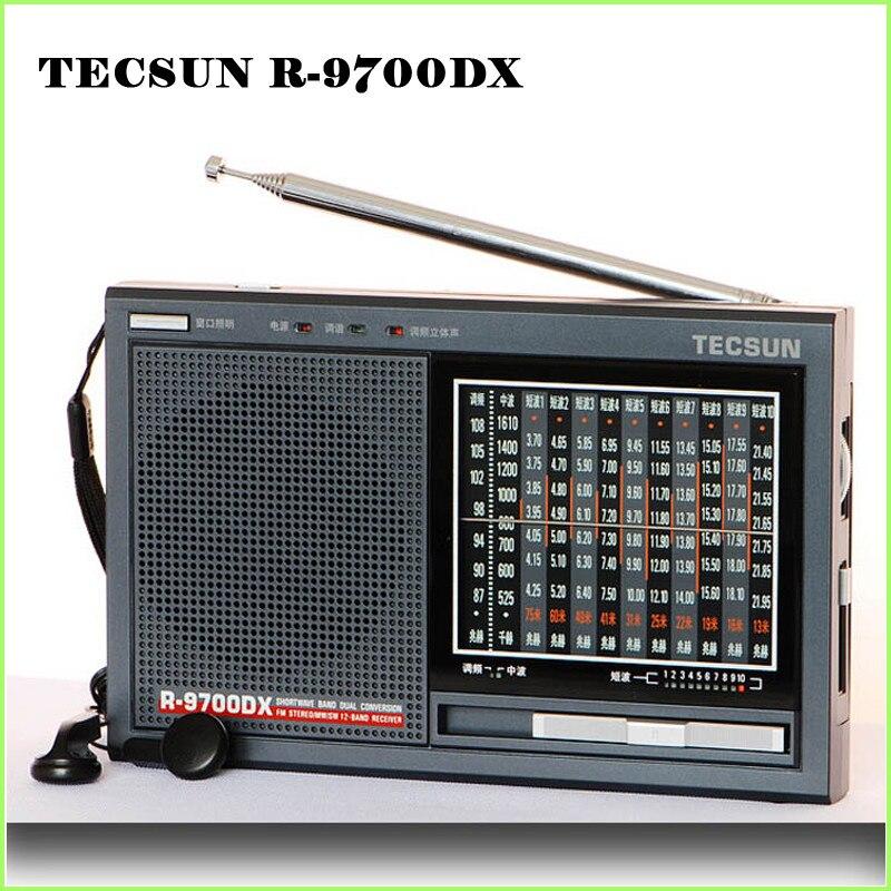 ФОТО Original TECSUN R-9700DX radio  FM stereo MW SW 12 Band World Receiver Portable Radio Dual Conversion R9700DX free shipping