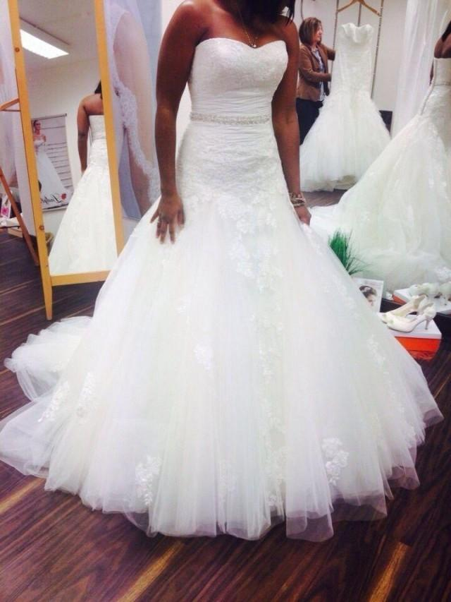 Real Picture Plus Size Mermaid Wedding Dresses With Beads Lace 2020 Tulle Applique Garden Sweep Length Bridal Gown Custom Made