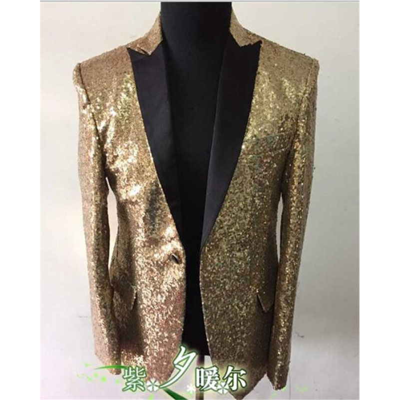 Compare Prices on Gold Blazer- Online Shopping/Buy Low Price Gold ...