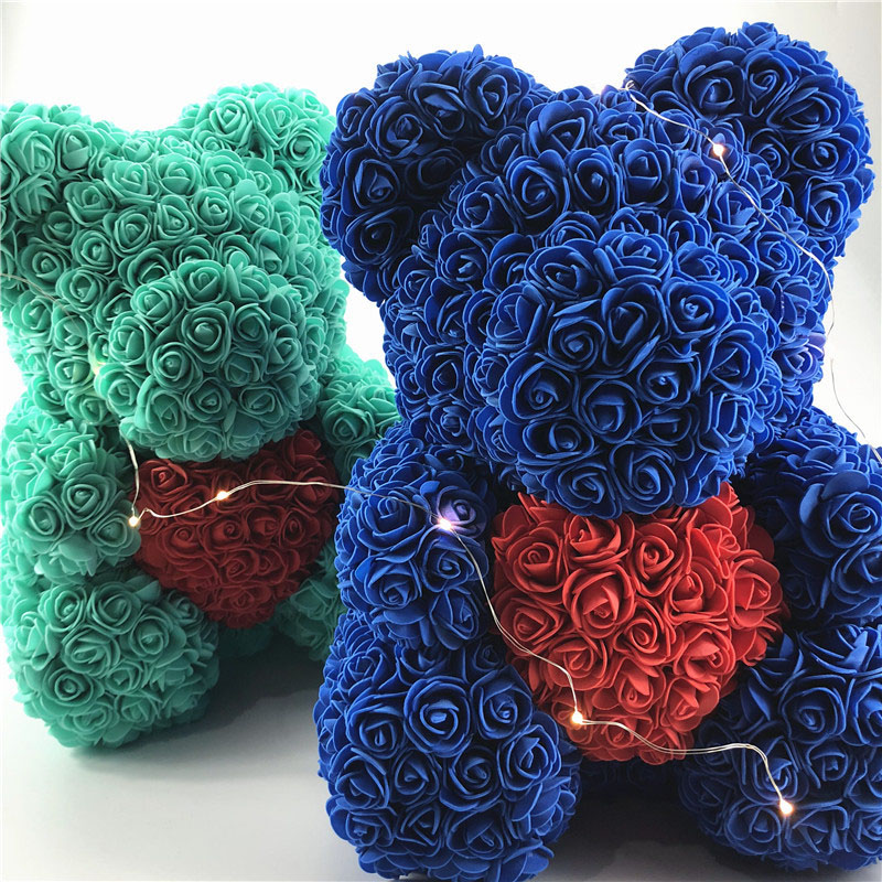Valentines Day Gift foam Rose Bear Artificial Flower Love Bear for Girlfriend Anniversary New  (1)