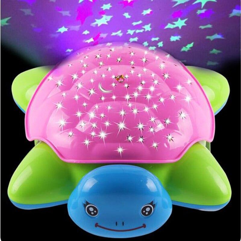 1 Pc Cartoon Seestern Sea Schildkröte Tragbare Flash-beleuchtung Musik Kinder Spielzeug Für Kinder Projektion Kindergarten Interaktive Spiele QualitäT Zuerst