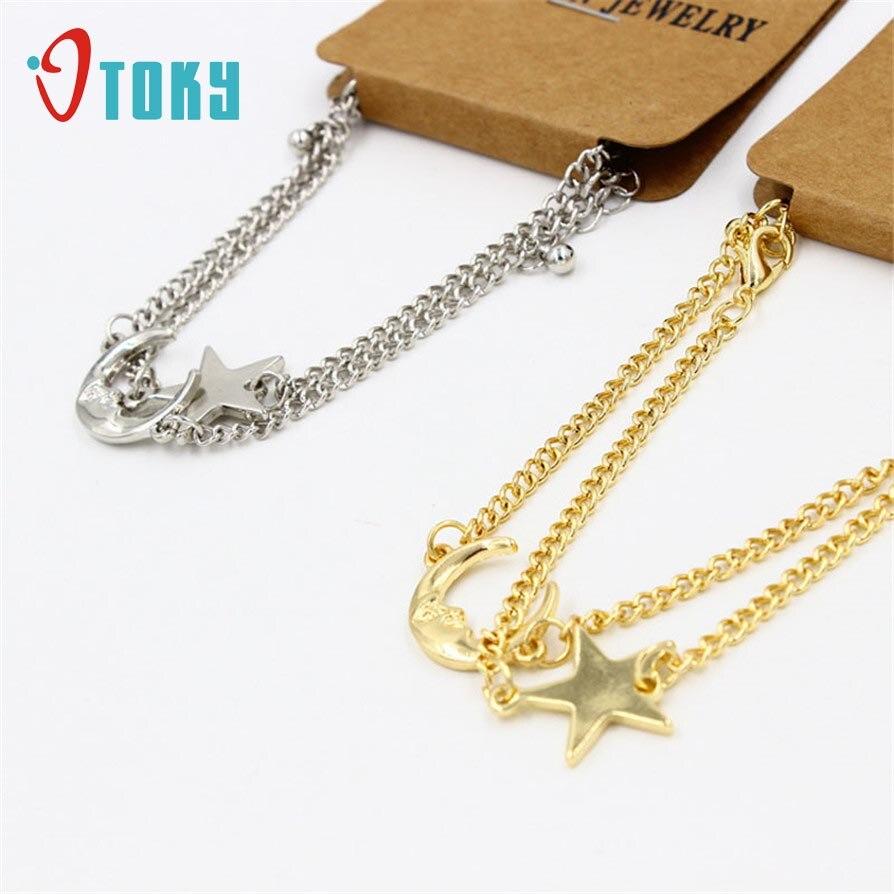 Bracelets OTOKY Fashion Design New Korean Lady Women Moon Stars Bracelet Set Jewelry Nice Gifts Apr24