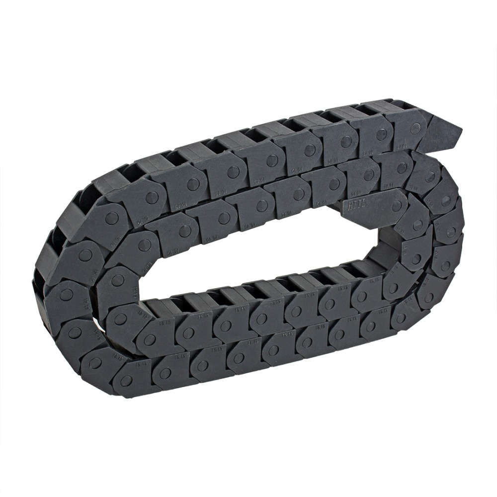 ᐊ15mm x 15mm R28 Plastic Cable Drag Chain Wire Carrier with End ...