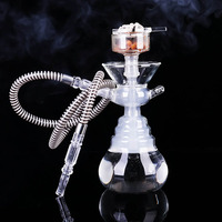 supply transparent glass hookah set Acrylic Hookah Shisha smoke big Glass hookahs shisha narguile smoking water with Led Light