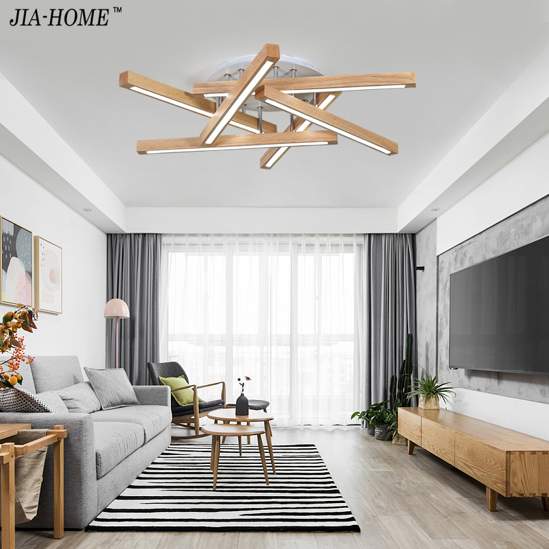 Ceiling Lights wooden Lampshades for living room bedroom Lamparas de techo Surface Mount Indoor Lamp Home Lighting Fixtures