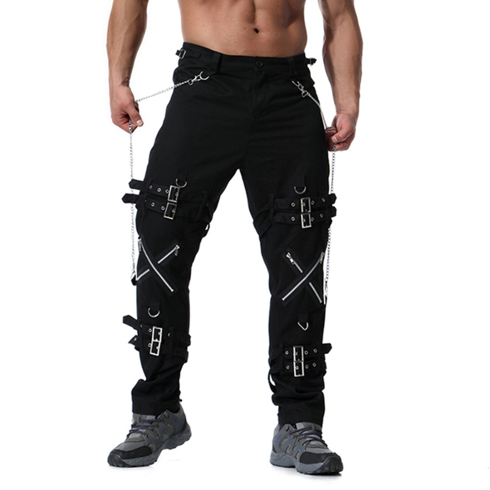 Cargo-Pants Trousers Joggers Punk-Rock Hip-Hop Zippers Streetwear Men Men Fashion ABZ182