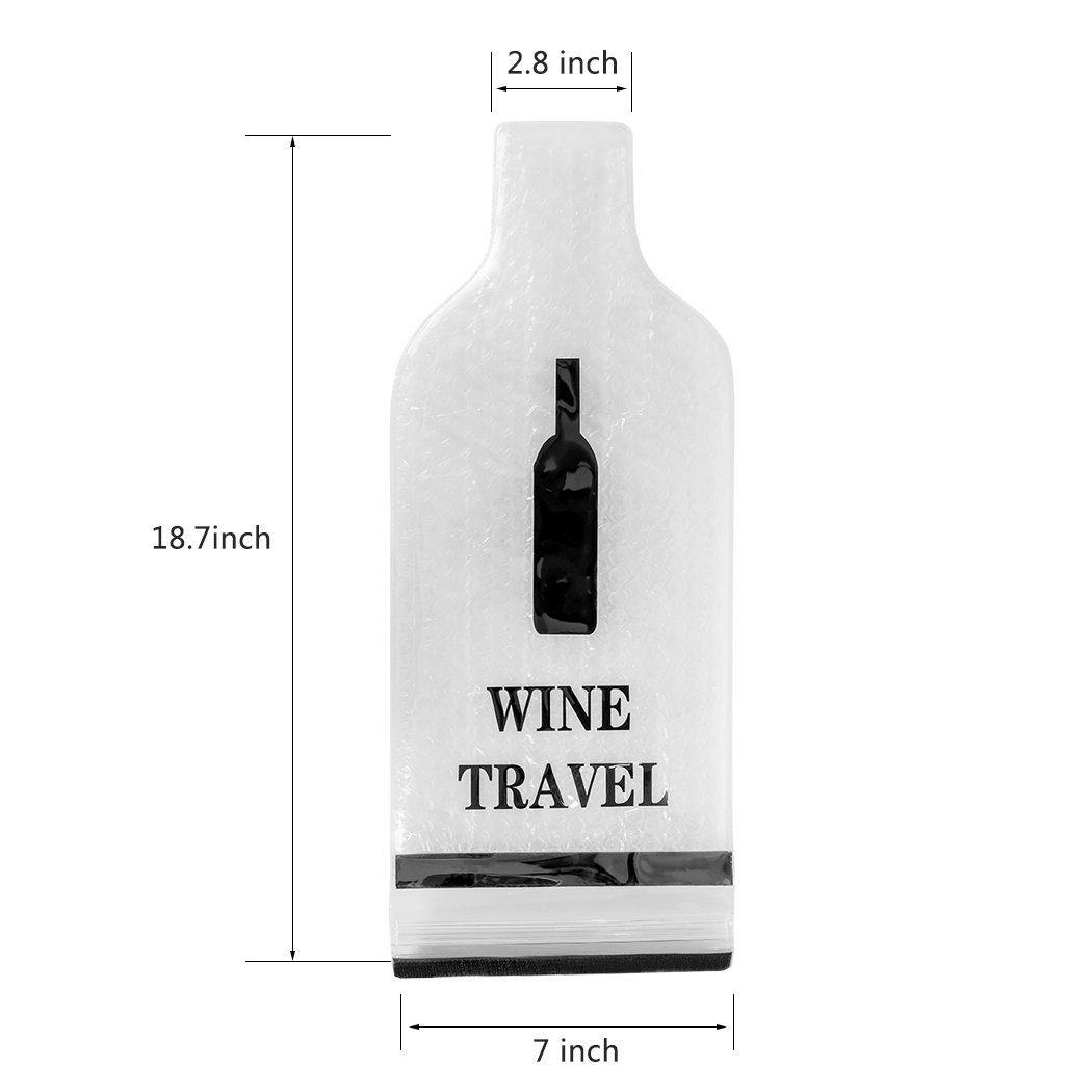 Wine Bottle Protector Sleeve Reusable And Portable Travel Bags Safe Transport Leakproof With The Gift Opener In Storage From Home Garden On