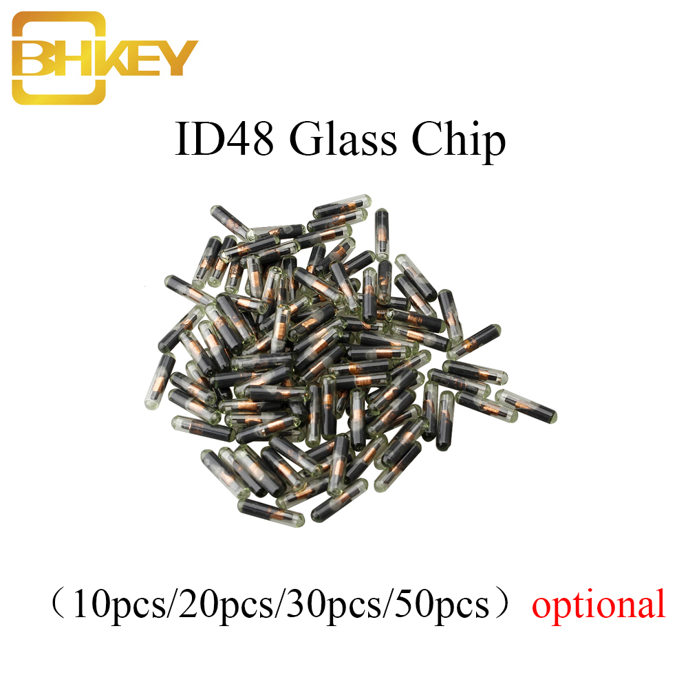 BHKEY 10X 20X 30X 50X 100XCar Key Glass Transponder ID48 ID 48 Chip T6 Crypto Unlocked Chip For Volkswagen Audi Seat Skoda Honda(China)