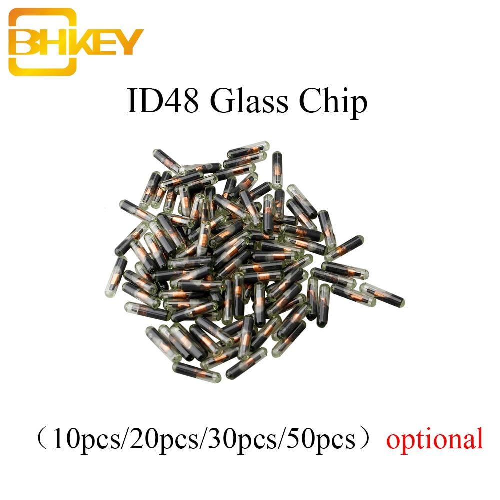 Автомобильный ключ BHKEY 10X 20X 30X 50X 100X, стеклянный транспондер ID48 ID 48 чипов T6, разблокированный чип Crypto для Volkswagen, Audi, Seat, Skoda, Honda