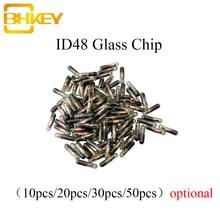 BHKEY 10X 20X 30X 50X 100XCar Transponder in vetro chiave ID48 ID 48 Chip T6 Chip sbloccato per Volkswagen Audi Seat Skoda Honda
