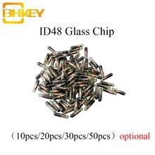 Bhkey 10X 20X 30X 50X 100 xcar キーガラストランスポンダーチップ ID48 id 48 チップ T6 暗号ロック解除チップフォルクスワーゲンアウディシートシュコダホンダ