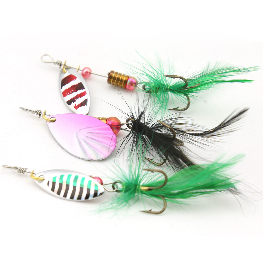 aliexpress : buy 30pcs metal spinner bait fishing spinnerbaits, Hard Baits