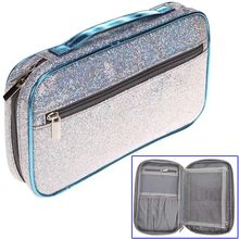NEW Portable Women Makeup Bag Shining Travel Handbag Lady Cosmetic Brushes Storage Pouch Zipper Organizer Make Up Case(China)