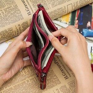 Image 5 - Vendita calda 2020 portamonete con cerniera portafoglio donna portafogli in vera pelle borsa moda borsa corta con porta carte di credito Hasp Design