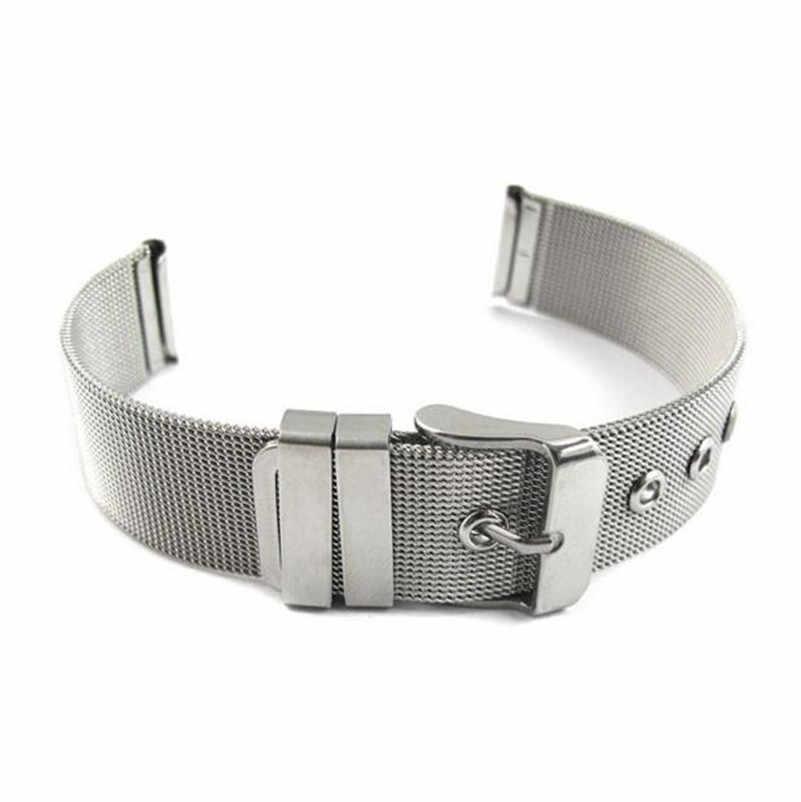 Offre spéciale 14 16 18 20 22 24 mm mode milanais Bracelets en acier inoxydable bracelet de montre bracelet aiguille boucle de haute qualité