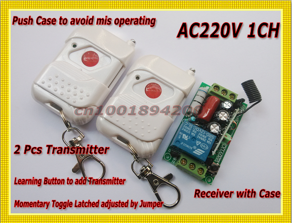 channel Wireless Remote Switch System 2 Remote Wireless Receiver&transmitter 220v1ch 10a Relay Learning Code 315/433mhz Toggle By Scientific Process