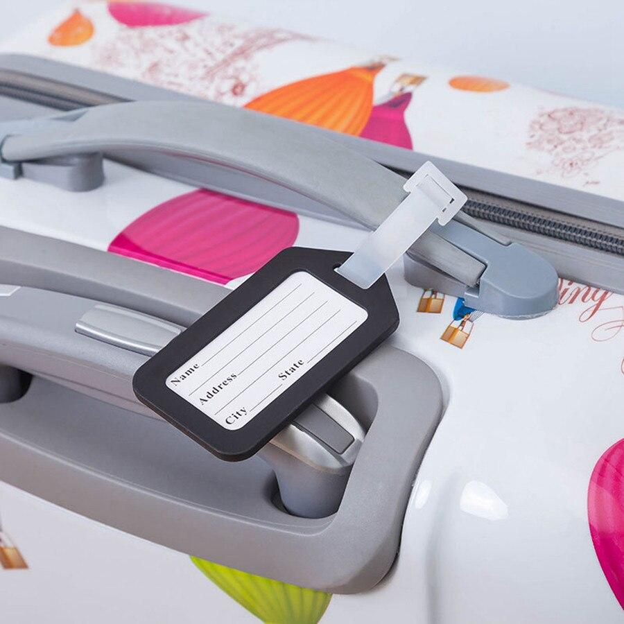 Классические Пластиковые Багажную Бирку Путешествия Чемодан Багажа Дорожная Сумка Mixproof Интернат Тегов Этикетка Адрес Имя ID Тегов 6 Цветов