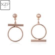 XZP Fashion Album Earrings for Women Men Asymmetric Kpop Jewelry Boys DNA Earing Geometric Korean For Bijoux Gift