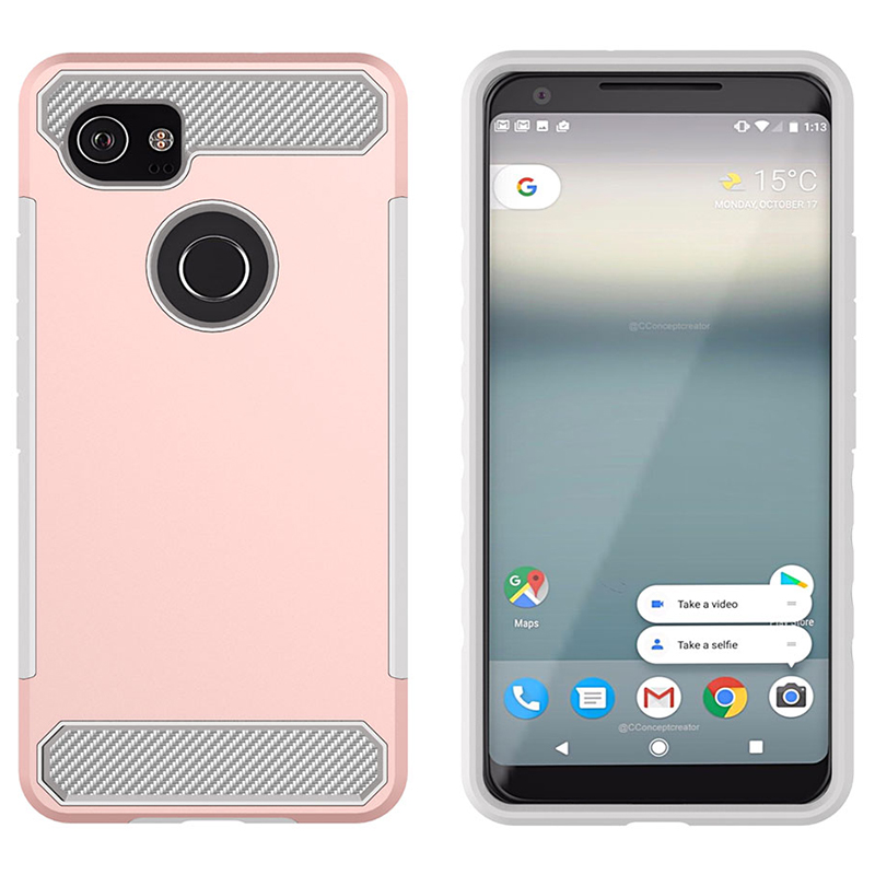 For Google Pixel 2 2XL Case Carbon Fiber Silicone Phone Back Cover For Google Pixel 2 XL Cases Dustproof Coque Full Cover Shell