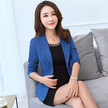 Plus Size 4XL 5XL Women Blazer Long Sleeve Work Office Short Ladies Blazer Coats