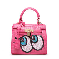 Fashion New 2017 designers Cute sequins Girls small big eyes shoulder bag women crossbody messenger bags bolsa feminina handbag