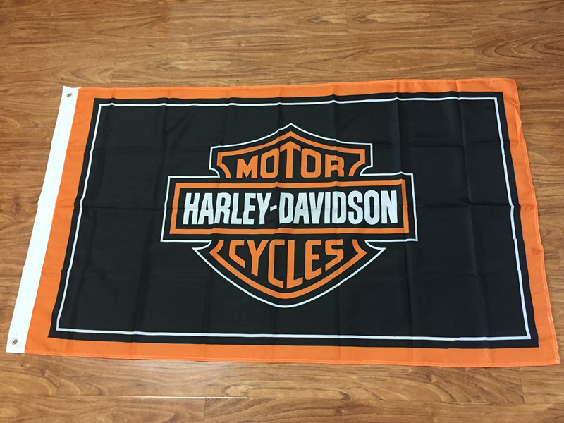 Motor Cycles Flags Size 3x5ft Harley Davidson Logo Flag