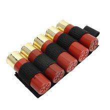 1000D 12GA Shotgun Bullet Pouch Paintball Buttstock Hand Gun Ammo Pouch Carrier Tactical Hunting Rifle 5 Shells Cartridge Holder(China)