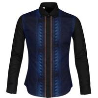 Cloudstyle uomo Streetwear Shirt Autunno Inverno Colorato 3D Vernice Camicetta Top Moda camisa masculina Abbigliamento Casual slim fit