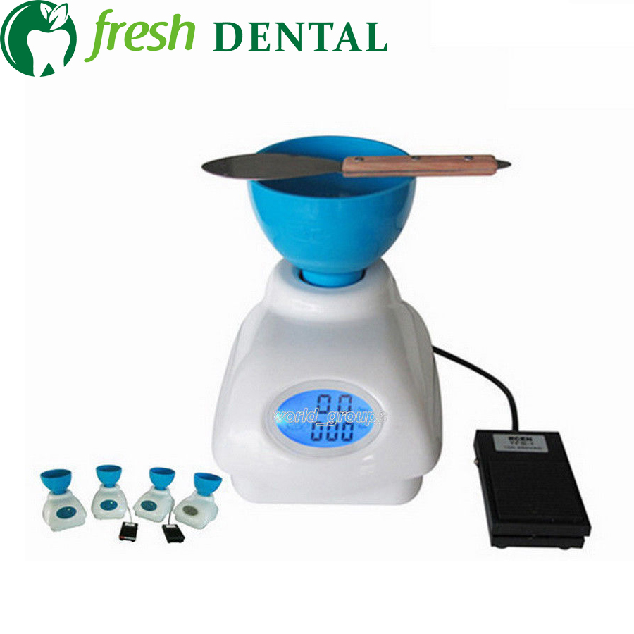 Dental Lab Impression Alginate Material Mixer New+ Bowl + Foot Die Stone Mixer Pedal Control impression material monophasic polyvinyl siloxane