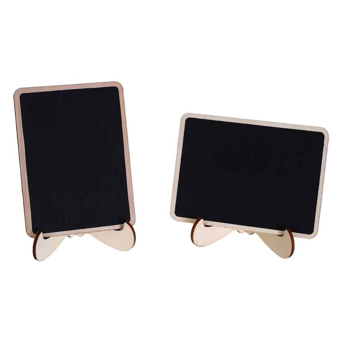 Mini Chalkboard Place Cards with Easel Stand and Chalk for Wedding, Parties, Table Top Numbers, Food Signs