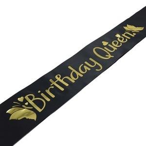 Image 4 - Elegant Birthday Queen Satin Sash Women Girls Queen Birthday Sash Birthday Party Decorations Ideas Supplies